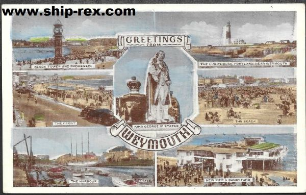 Weymouth, Dorset - old multiview postcard
